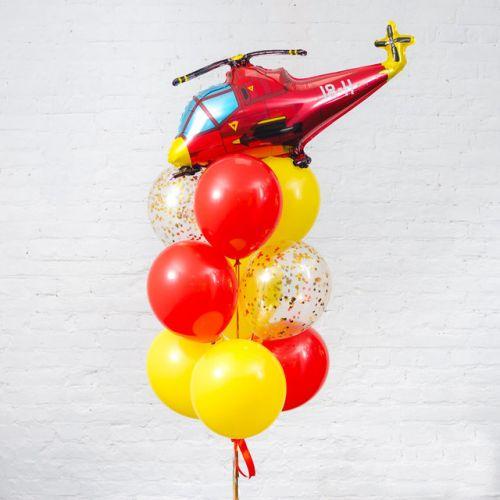 композиция с грузиком для мальчика с вертолётом
