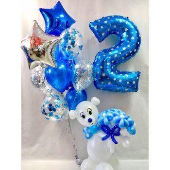 Набор шаров, цифры и фигуры из шаров