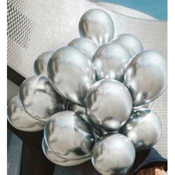Латексные шары (Серебро хром - цена за шар)