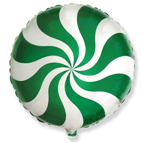 Фольгированный круг (46 см) Зелёный леденец
