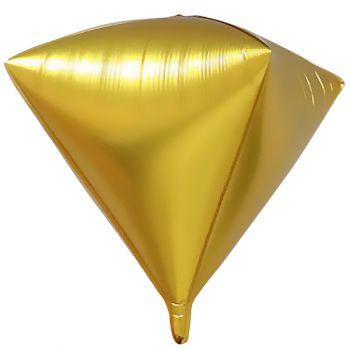 Шар 3D Алмаз, Золотой (69 см)