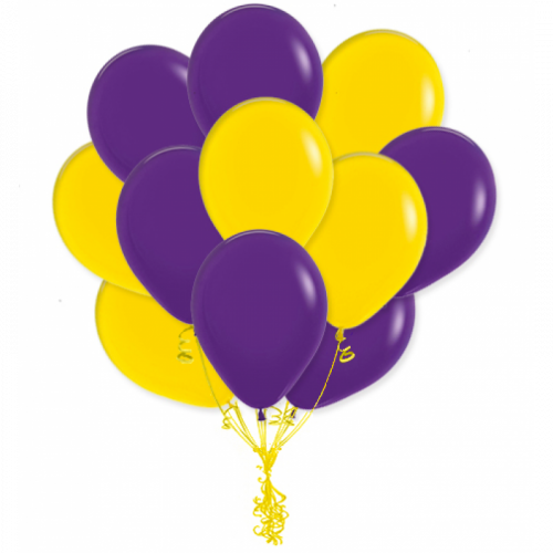 Сочетания фиолетовых шаров - Студия Шар Арт, Москва