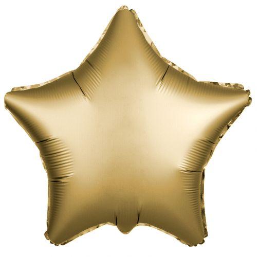 Фольгированная звезда Золото (сатин 46 см)