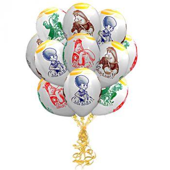 "Латексные шары ""Малыш и Карлсон"" (цена за шар)"