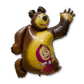 """Шар """"Привет Машa и медведь"""""""