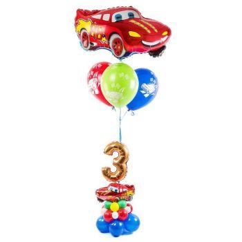 Набор из шаров Красная гоночная машина