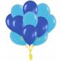 сине голубые шары
