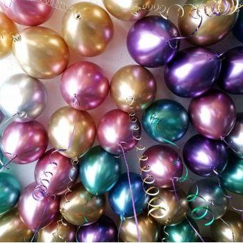 50 хромовых шаров (30 см)