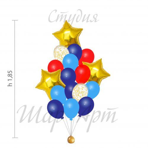 связки воздушных шариков с грузиком - доставка круглосуточно