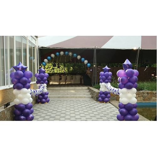 Украшение торжества воздушными шарами - круглосуточная доставка