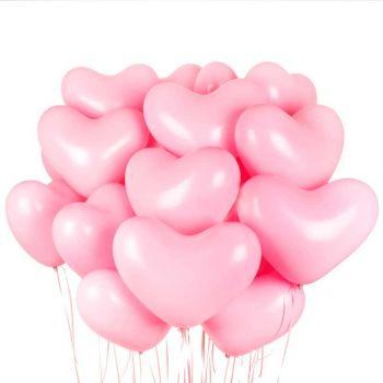 15 Розовых сердец (латекс)