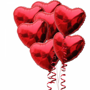 Набор из 6 сердец (46 см)