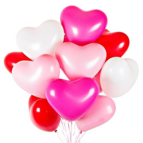 Шарики гелиевые - сердце - доставка вовремя