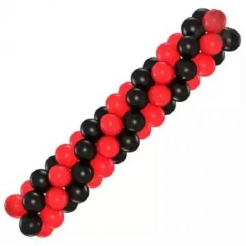 Гирлянда из шаров (красная/чёрная)