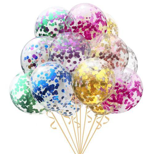 13 разноцветных шаров с конфетти