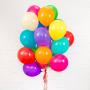Разноцветные гелиевые шарики к 1 сентября