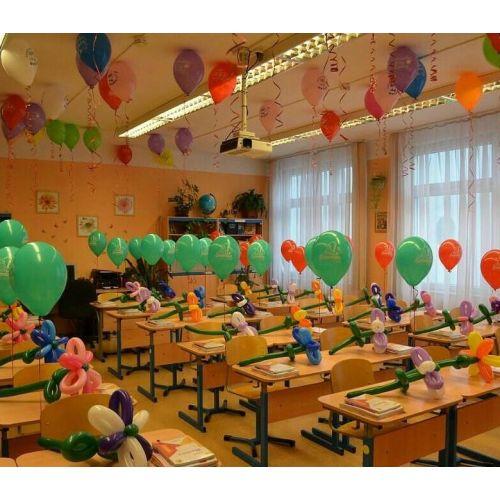 Украшение класса воздушными шариками